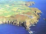 photo of cornwall land from the air
