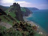 Photo of the Devon Coastline, blue oceans